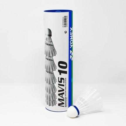 couleur Tube de 1//2 douzaine Blanc Yonex Mavis 10 Volants de badminton